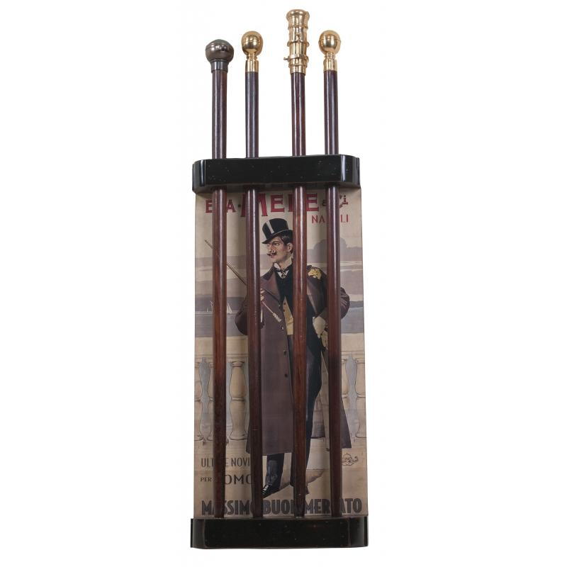 porte cannes mural pour 4 cannes sur moinat sa antiquit s d coration. Black Bedroom Furniture Sets. Home Design Ideas