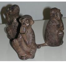 """Sculpture """"Singes de la sagesse"""""""