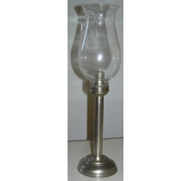 Candlestick with candle holder, metal nickel plated