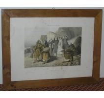 Marco en madera de nogal. Suiza. Del siglo 19.
