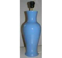 Vase en porcelaine bleu monté en lampe