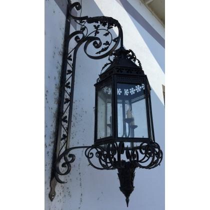 Lanterne - applique d'extérieure en noir mat.