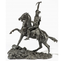 "Sculpture ""Indien vainqueur"", en bronze."