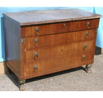 Empire chest of drawers, claw feet and 6 drawers.