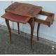 Table style Louis XV marquetée