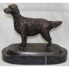 """Bronze """"Setter Anglais"""", socle marbre noir"""