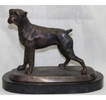 """Bronze """"Boxer"""", socle marbre noir"""