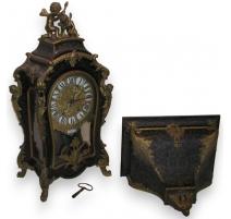 Régence Boulle inlay matel clock, THURET.