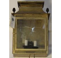 Linterna de la lámpara de pared de latón dorado y patinado