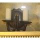 Lanterne applique en laiton doré et patiné