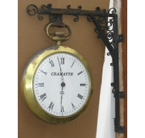 Hanging wall clock, signed Cra