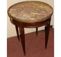 Table bouillotte Louis XVI mahogany