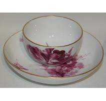 Bol et sous-tasse, en porcelaine de Meissen.