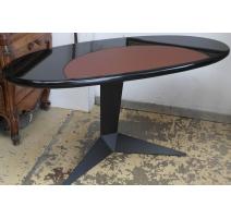 Schreibtisch oval ebenholz auf gestell in