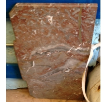 Plateau de commode en marbre rouge royal