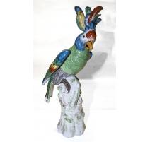 Попугай сидел Фарфора полного цвета