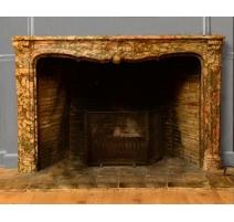 壁炉路易十五大理石brocatelle du汝拉