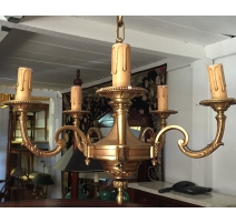 Lustre style Louis XVI à 5 lumières, en bronze