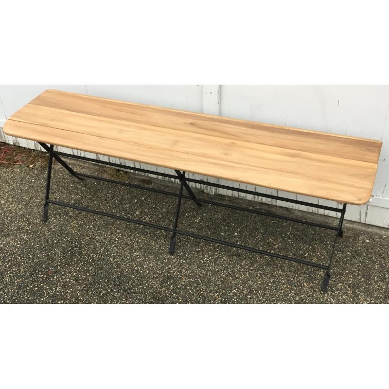 banc pliant en fer forg et bois sur moinat sa antiquit s d coration. Black Bedroom Furniture Sets. Home Design Ideas