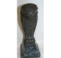 Bronze hibou, signé Ed. M SANDOZ, SUSSE F. à Paris