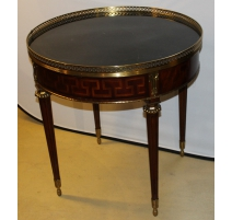 Table bouillotte Louis XVI style, the top marble