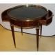 Table bouillotte style Louis XVI, dessus marbre