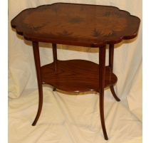 """Pedestal de mesa con incrustaciones de """"la Libertad"""" copia GALLÉ"""