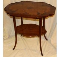 "Pedestal table inlaid ""Liberty"" copy GALLÉ"