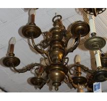 Lustre Hollandais à 6 lumières, décor sirènes