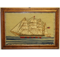 "Table embroidery ""Boat"""