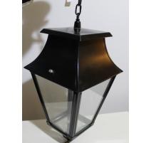 Lanterne carrée en laiton noir