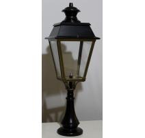 Lanterne de pilier bicolore en laiton
