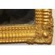 Miroir Napoléon III rectangulaire en bois doré