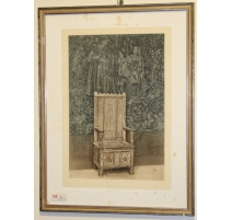 """Reproduction of a drawing """"Chayère a safety deposit box"""""""