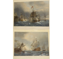 """Pair of prints """"Boats"""" by GUDIN"""