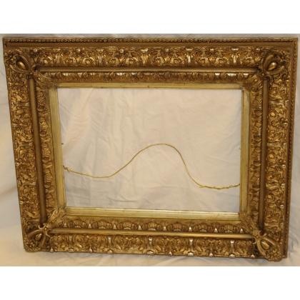 Parte de Napoleón III en madera dorada