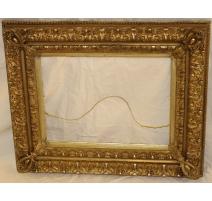 Rahmen, Napoléon III, in holz, vergoldet