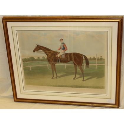 """Gravure anglaise cheval de course """"Fille de l'air"""""""