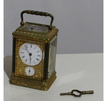 Pendulum officer with clock, signed LEROY
