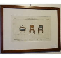 "Engraving colored ""Armchair apartment"""