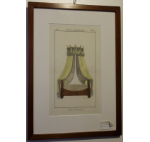 "Engraving coloured ""Bed Crown"""