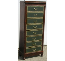 Louis-Philippe cartonnier with 8 drawers.