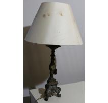 Cièrge en laiton montée en lampe