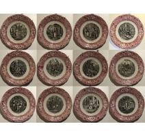 """Комплект из 12 тарелок """"Жанна д'Арк"""" фарфор"""