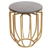 Стол через диван круглый золотой железа ажурная