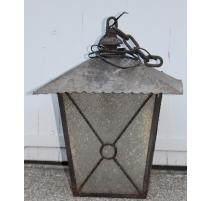 Farol cuadrado de hierro forjado negro