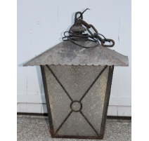 Lantern square black wrought iron
