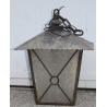 Lanterne carrée en fer forgé noir