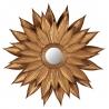 Miroir en forme de fleur en fer doré