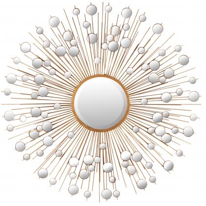 Зеркальное отражение Солнца в золотой железа ажурная